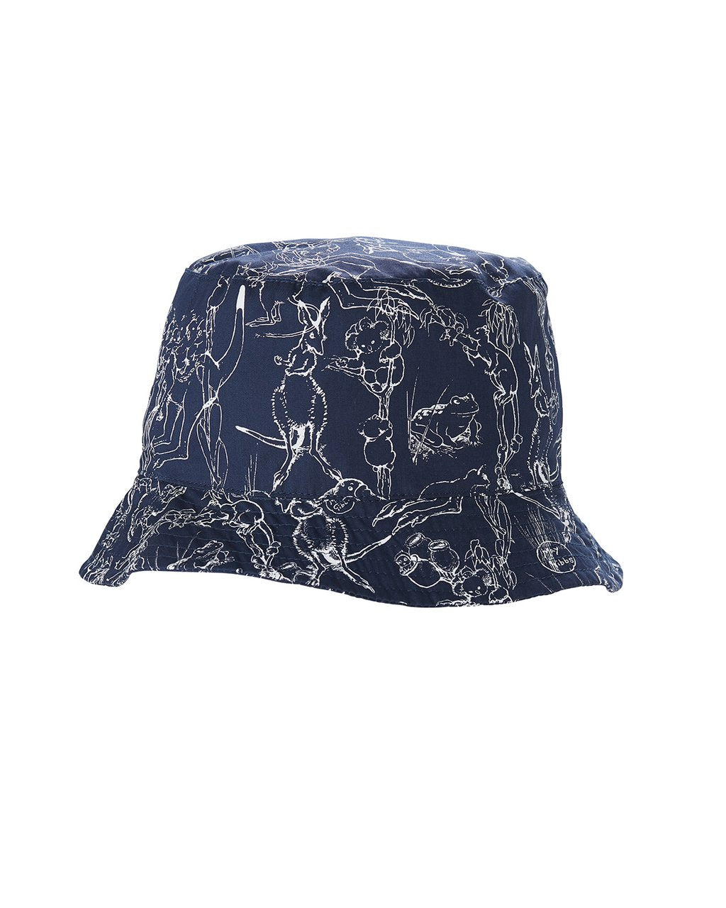 Walnut May Gibbs Mini Sunny Sunhat - Bush dance - Navy