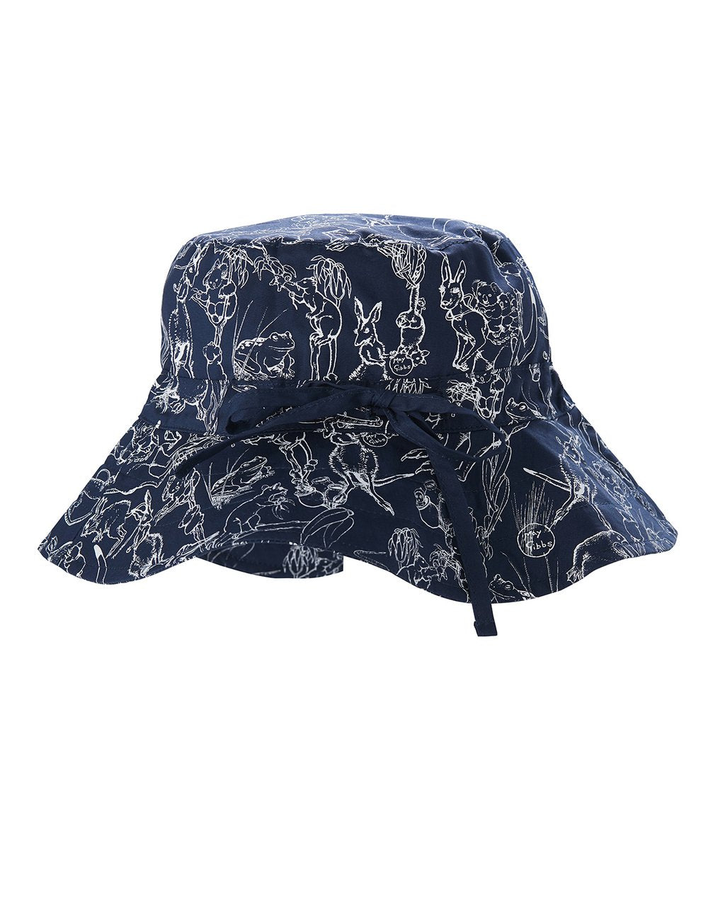 Walnut May Gibbs Sunny Sunhat - Bush Dance - Navy