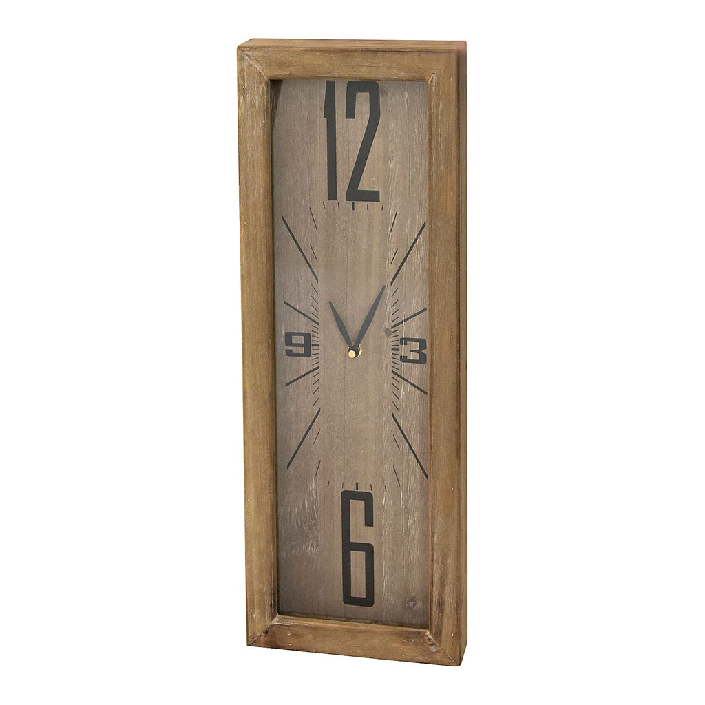 Horrace Timber Narrow Rectangular Clock