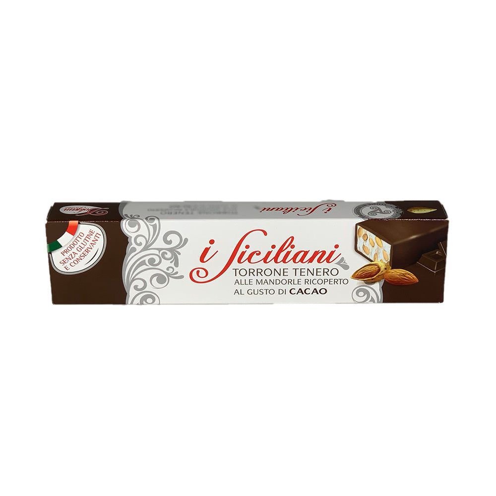 Almonds torrone covered with chocolate 150g