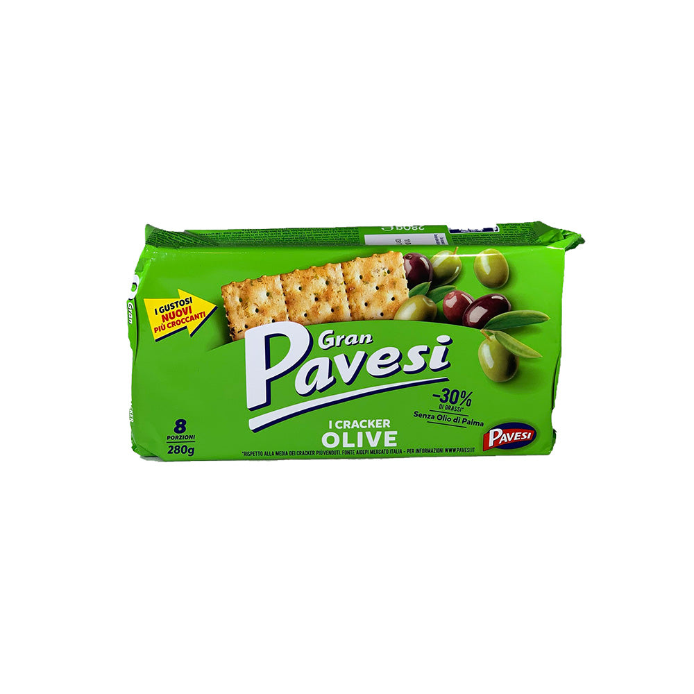 Gran pavesi crackers with olives 280g