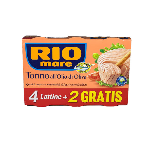 Rio Mare tuna with olive oil cans 6 x 80g