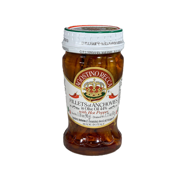 Agostino Recca Anchovies in olive oil and hot pepper 90g