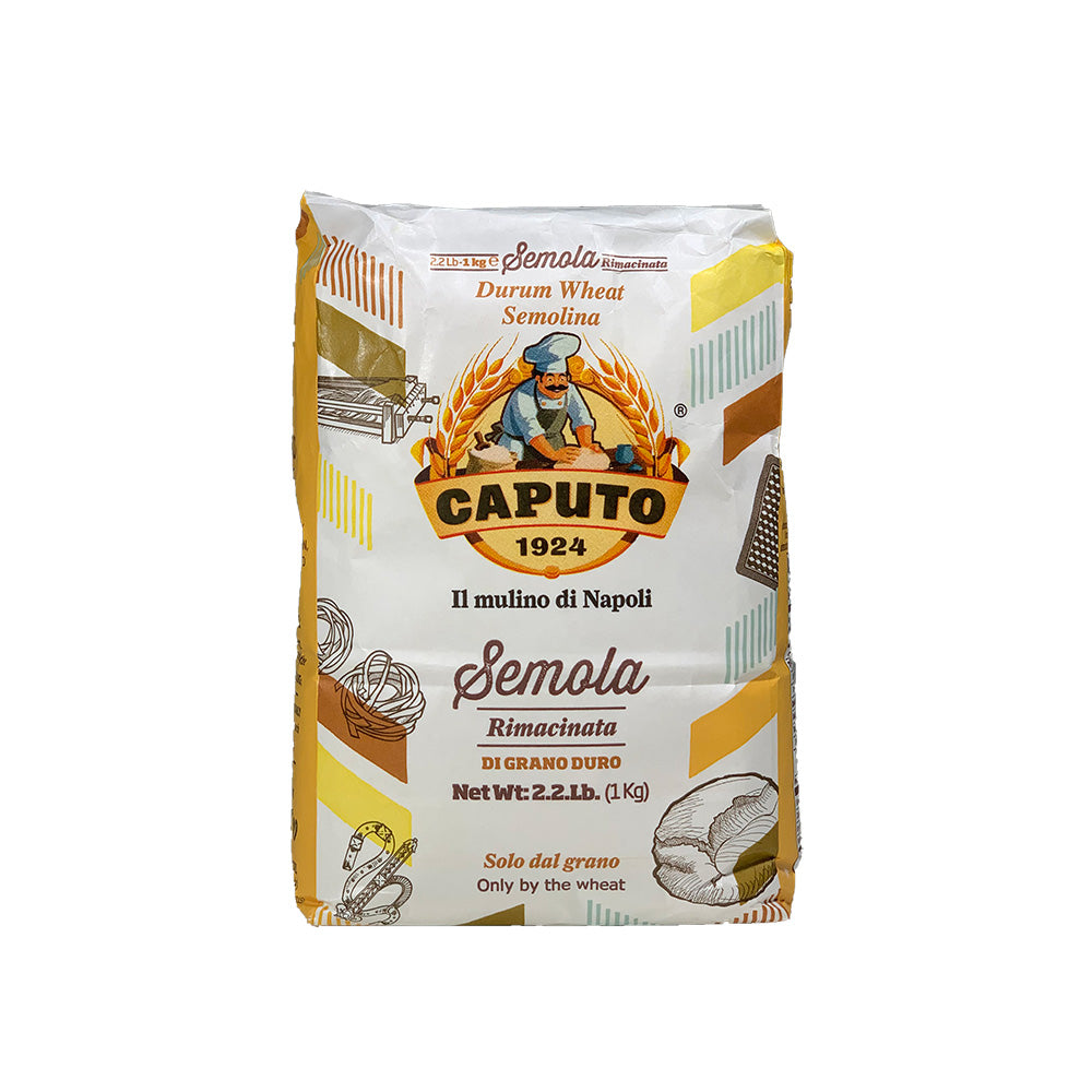 Caputo Flour Semola durum wheat 2.2lb (MAXIMUM 3 PACKS FOR ORDER)