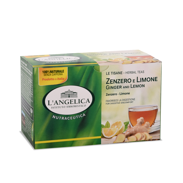 L'angelica Ginger & Lemon herbal tea