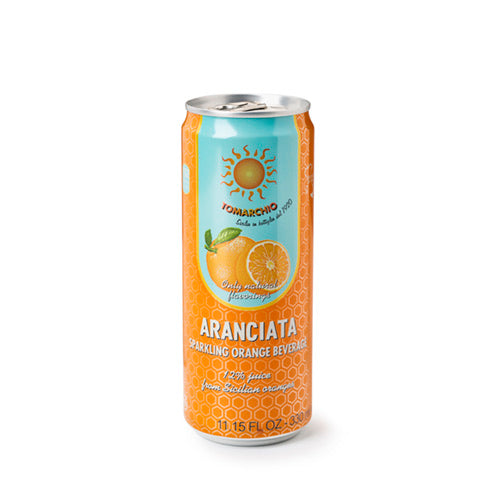 Tomarchio Aranciata, orange Soda can 330ml