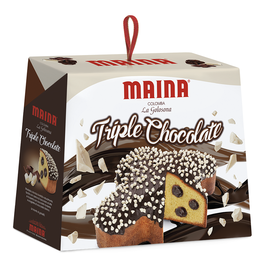 Colomba Maina la Golosona Triple Chocolate Easter