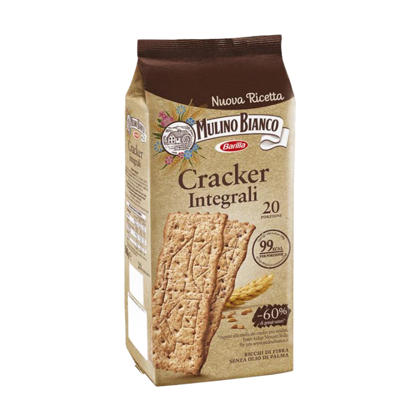 Mulino Bianco Whole Wheat Crackers 500g