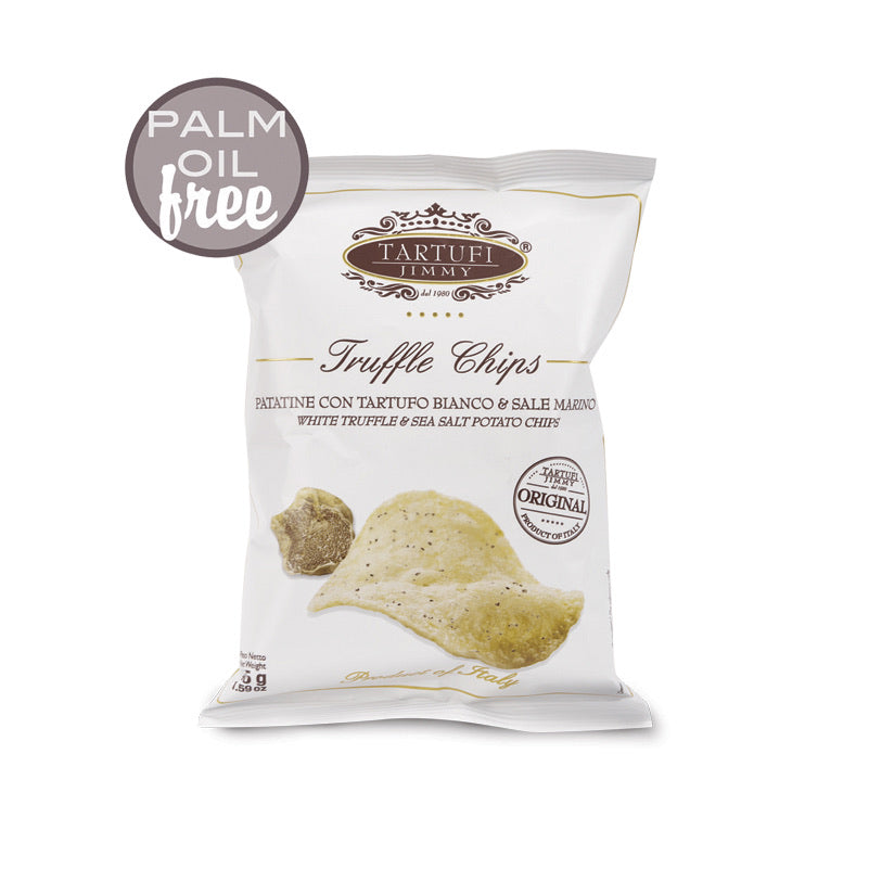Truffle chips, white truffle & sea salt potato chips, Tartufi Jimmy, 45g