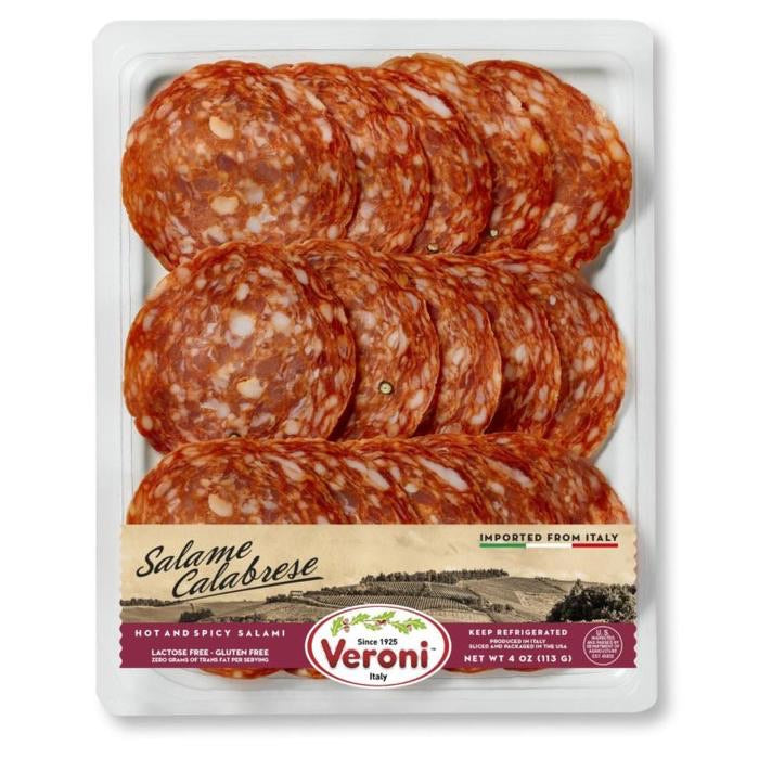 Veroni Salame Calabrese, Hot & Spicy Salami Pre-sliced
