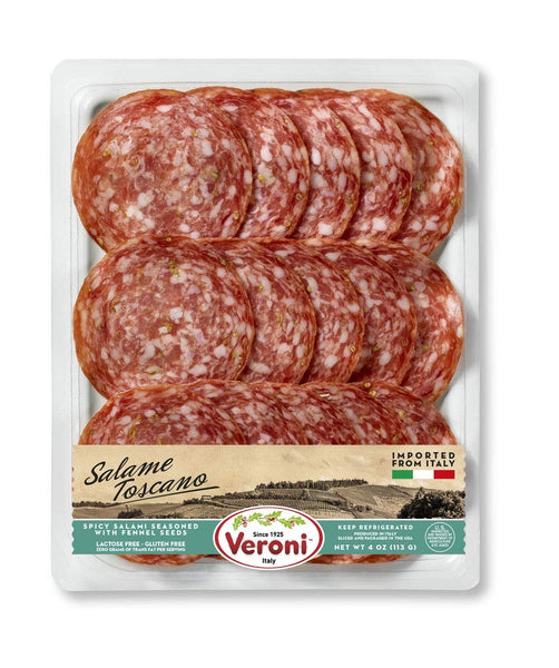 Veroni Salame Toscano, with fennel seeds pre-sliced