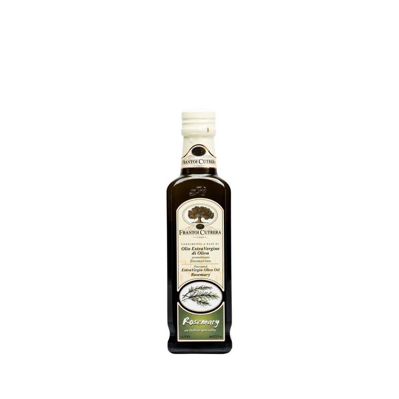 Frantoi Cutrera Extra virgin olive oil rosemary flavor 250ml, 8.5oz
