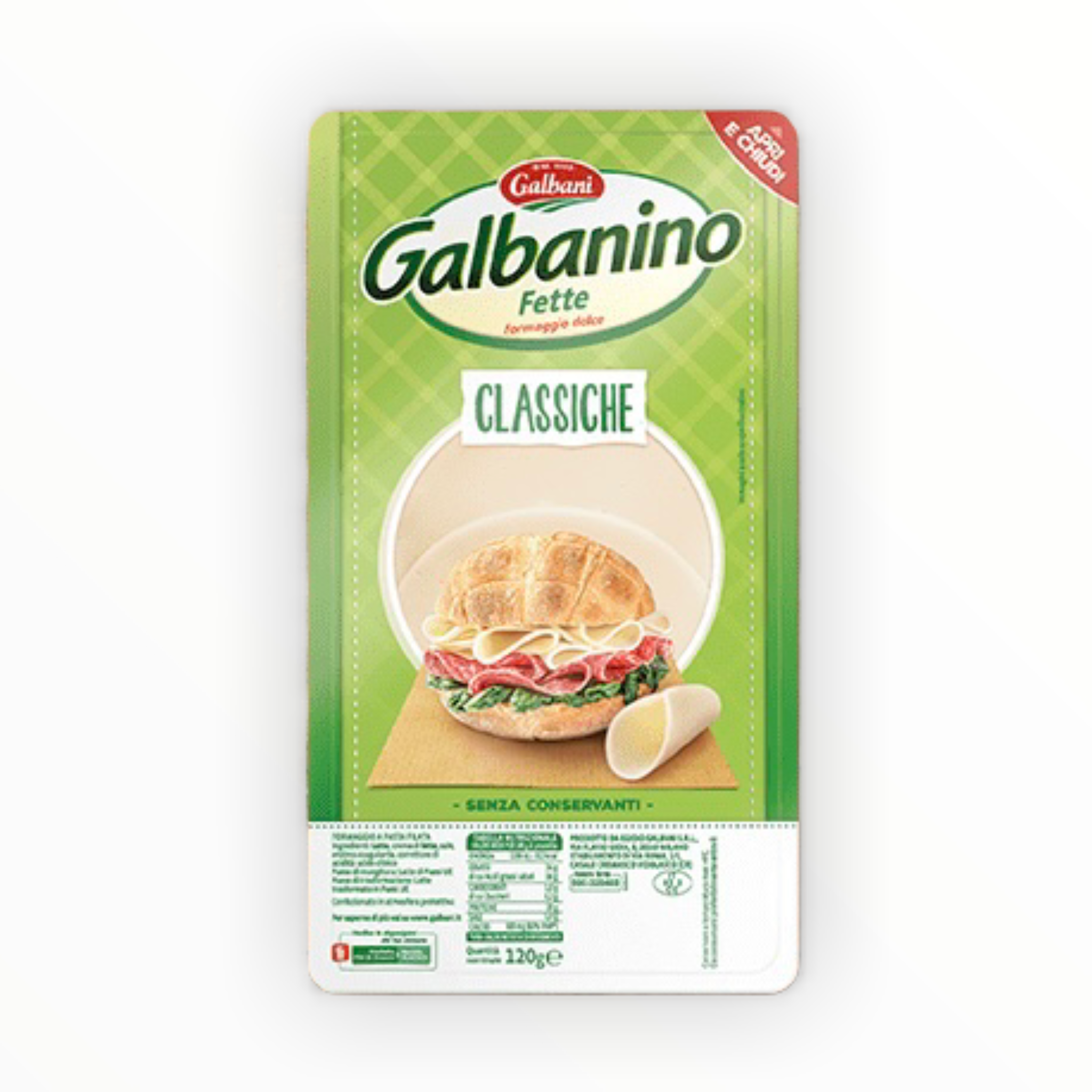 Galbanino Slices mild Cheese 120g