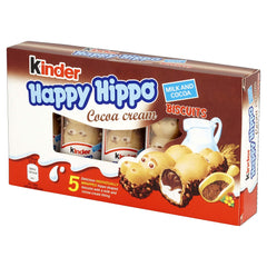 Kinder Happy Hippo Biscuit Cocoa ( 5 Snacks)