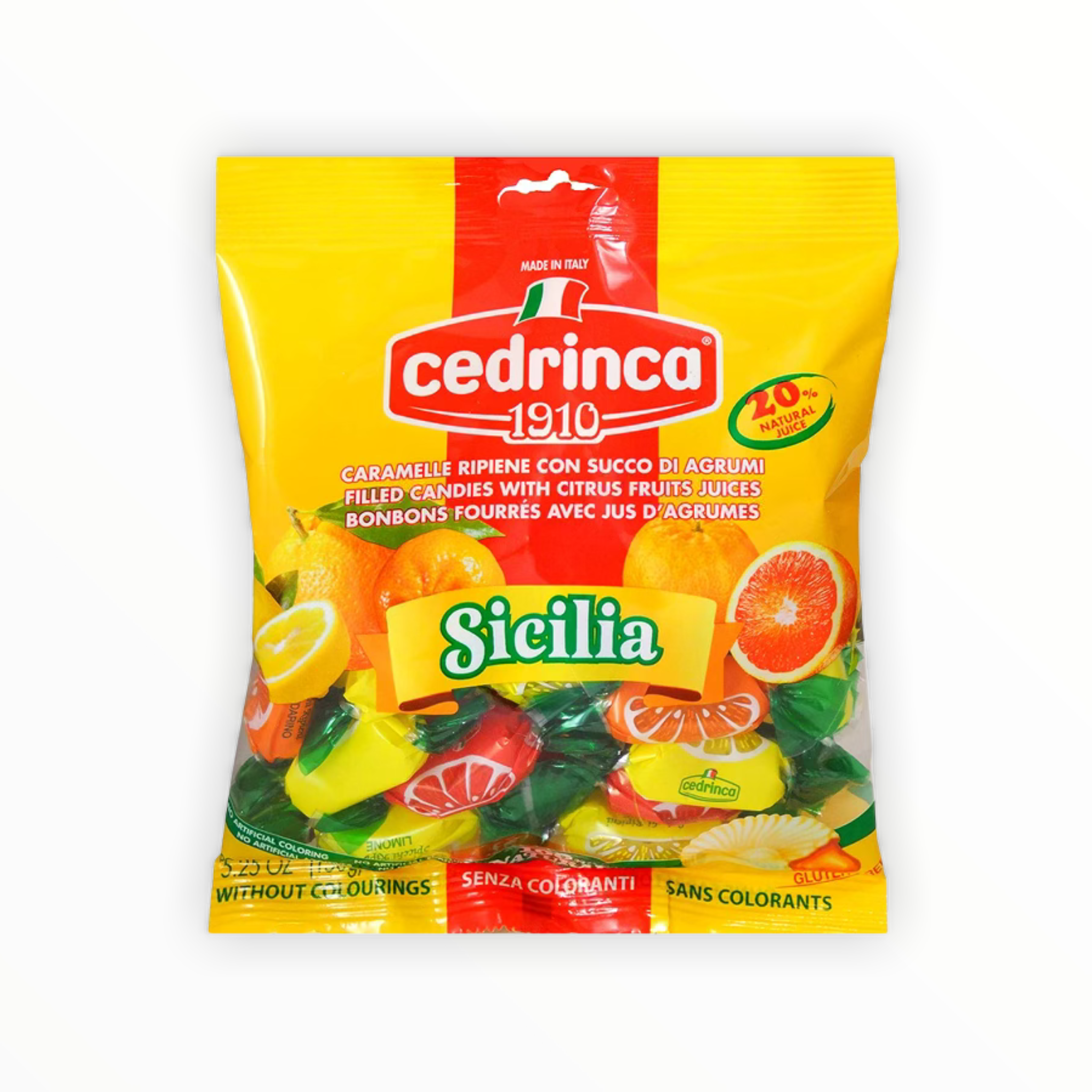 Cedrinca Filled Candies with citrus fruits Juices