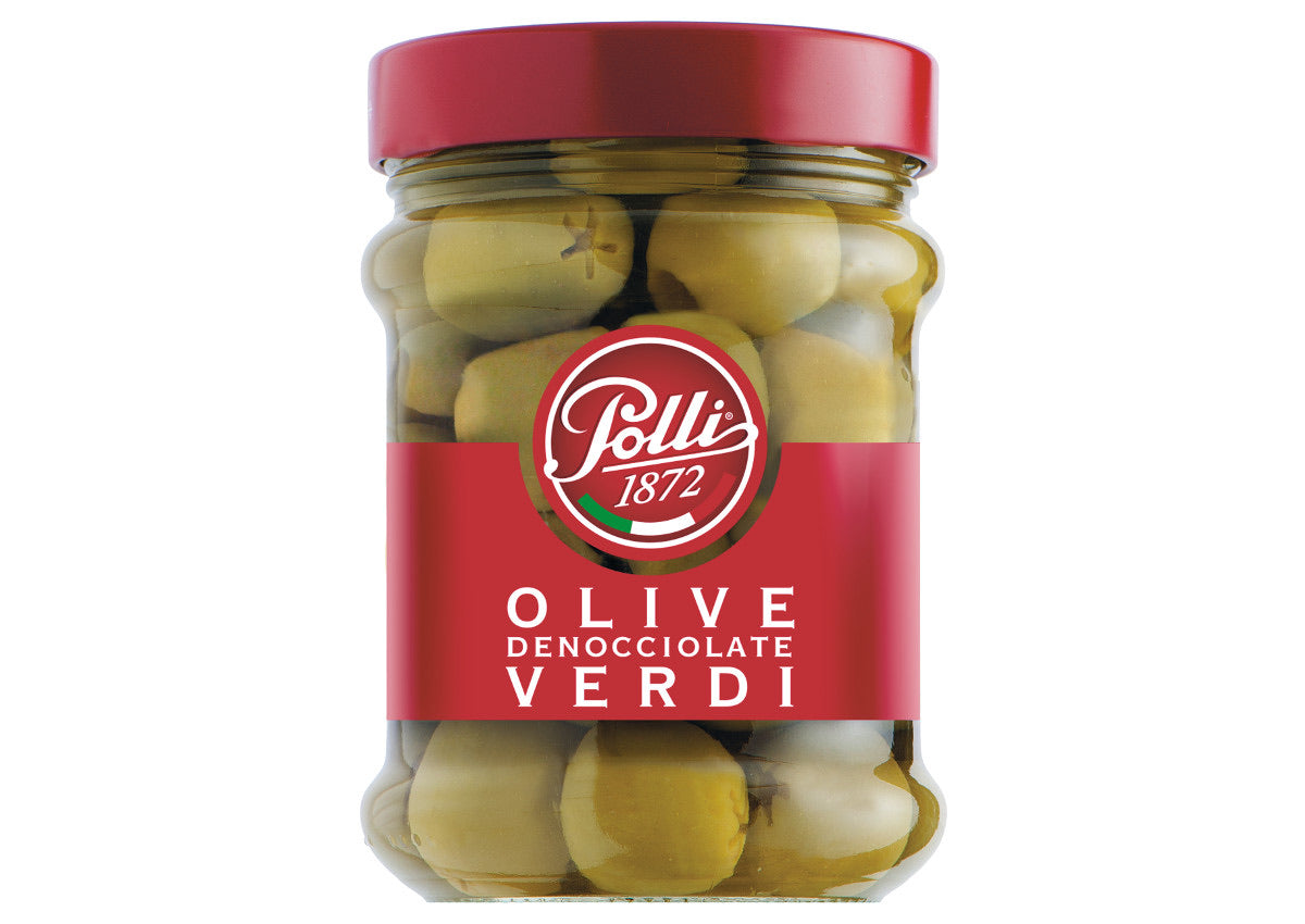 Green olives pitted Polli 135g