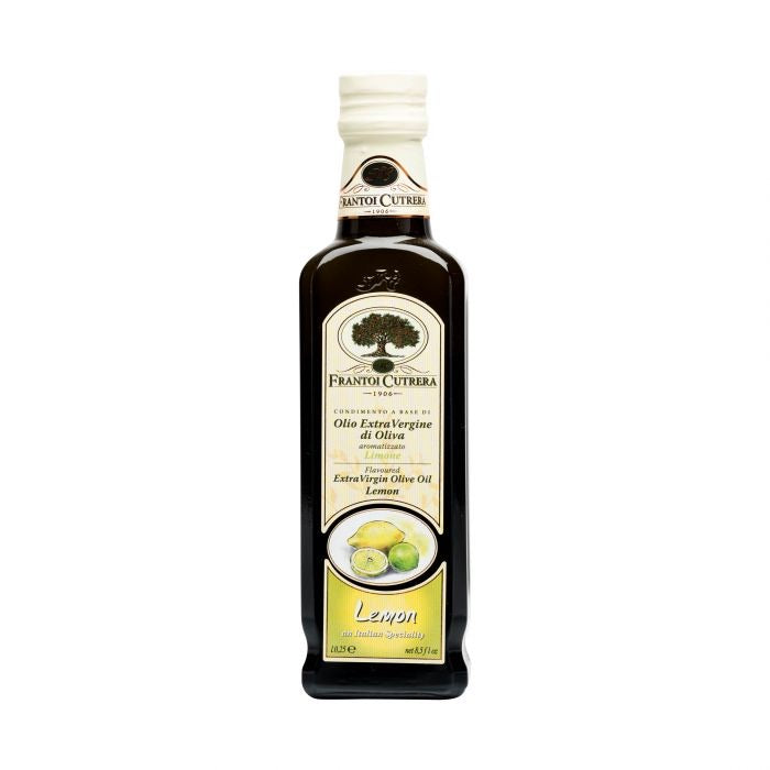 Frantoi Cutrera Extra virgin olive oil lemon flavor 250ml, 8.5oz