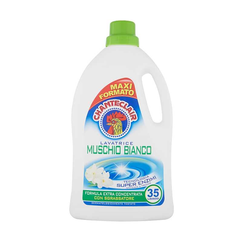 Chante Clair Classic washing machine detergent, Muschio Bianco, Maxi bottle 1750ml, 35 loads