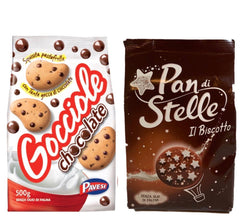 Bundle cookies: 1 pack Gocciole 500g; 1 pack Pan di stelle 350g