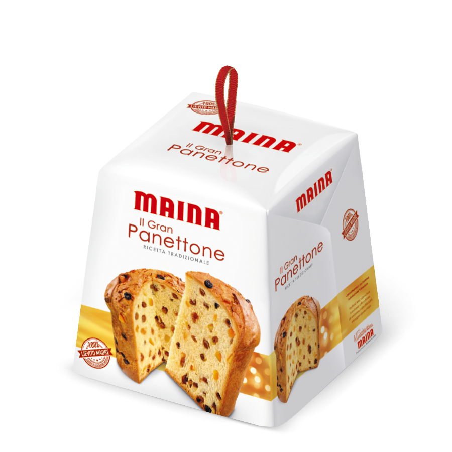 Il Gran Panettone Maina, traditional Italian oven baked cake