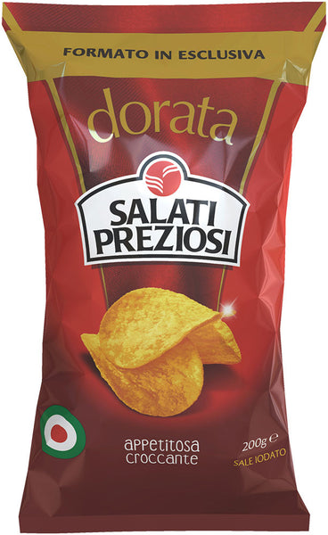 Salati preziosi, italian potato chips, crispy and appetizing 200g
