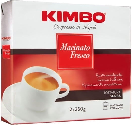 Kimbo Macinato Fresco double convenient pack 2x250g