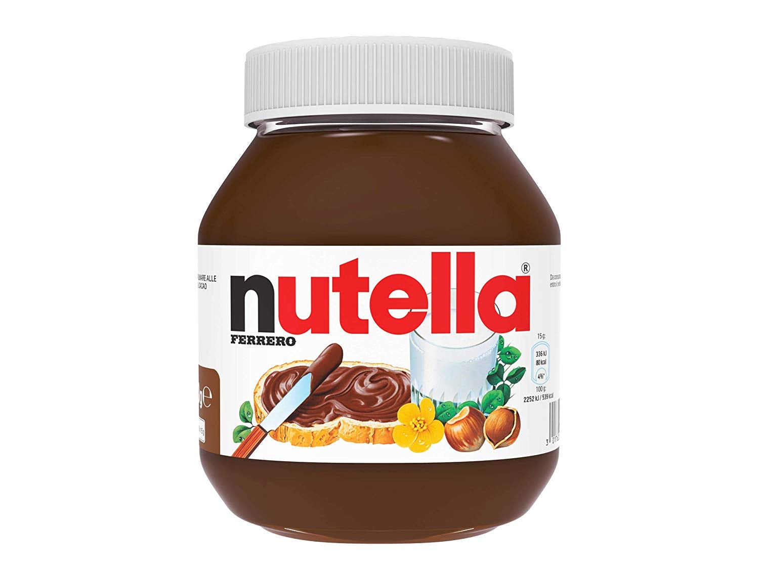 Italian Nutella Ferrero glass jar 750g