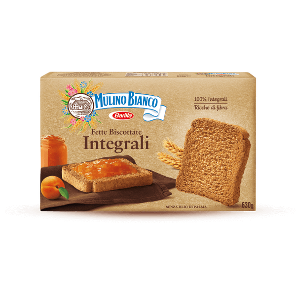 Whole wheat fette biscottate Mulino Bianco 630g Rusks