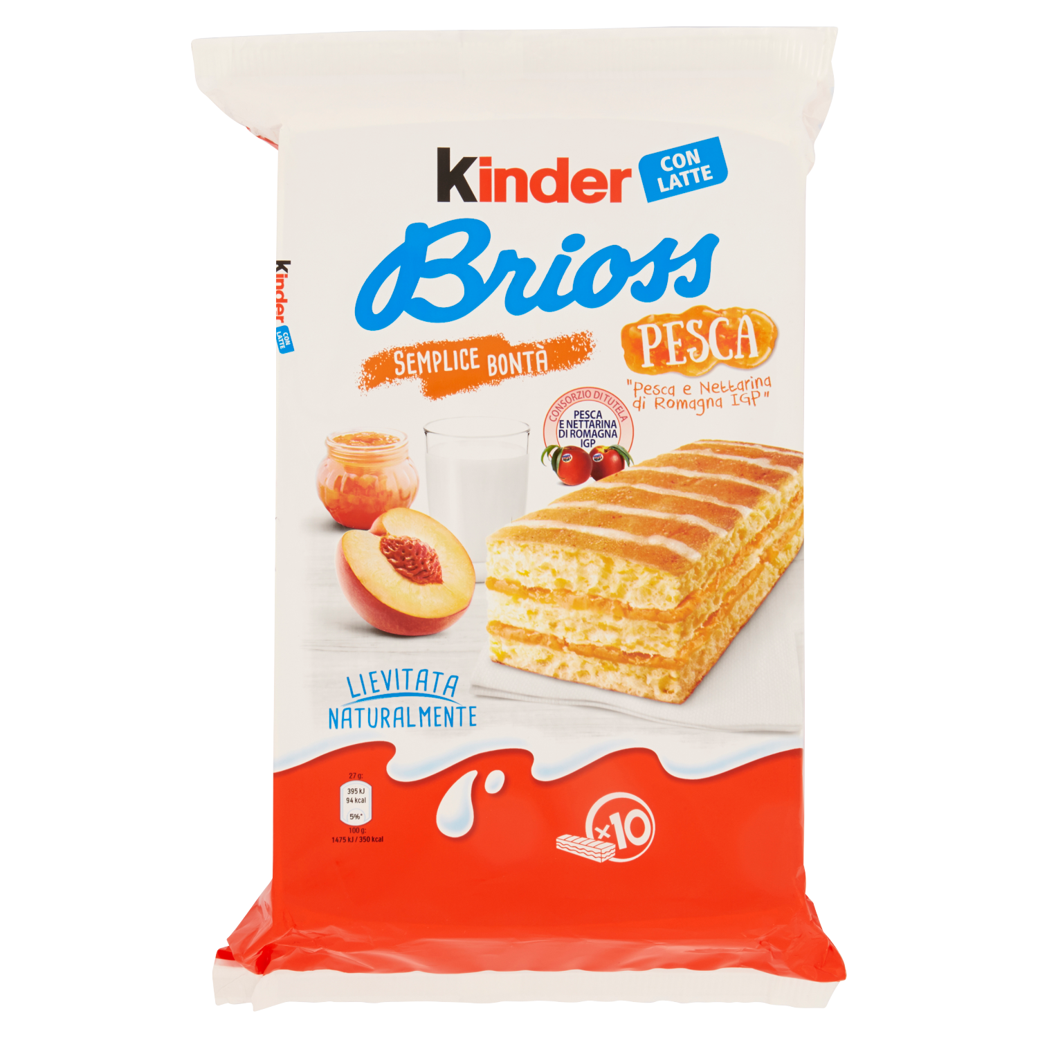 Kinder Brioss Pesca (10 snacks)