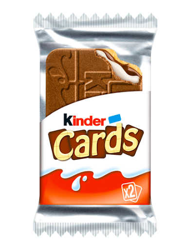 Kinder cards 2 biscuits