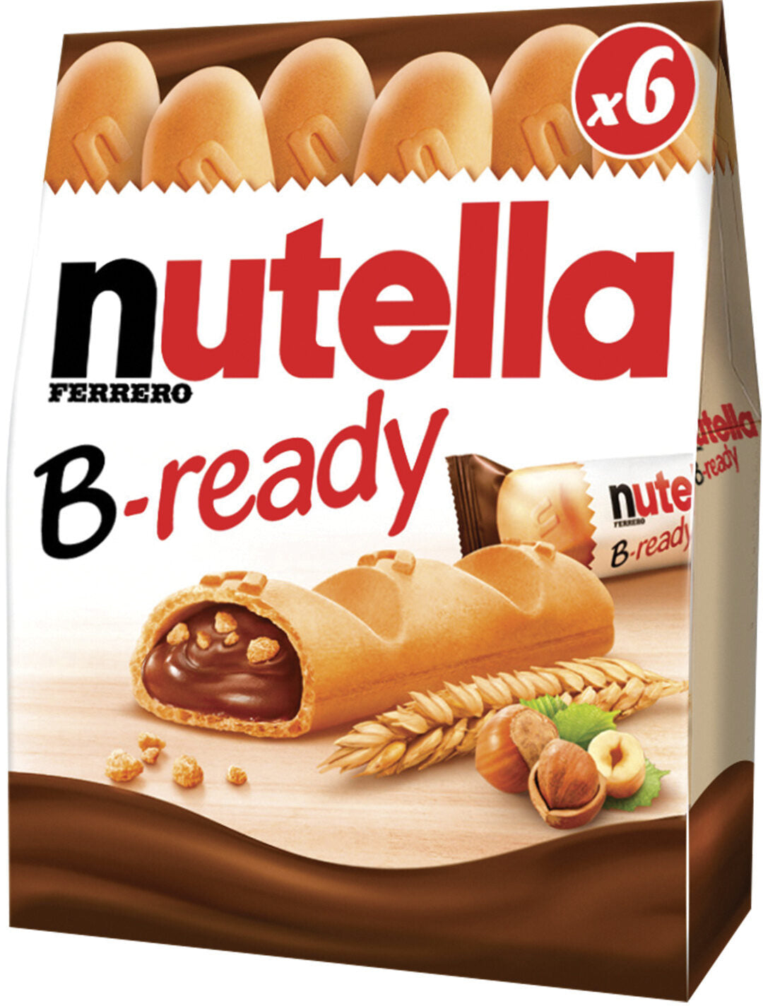 Nutella B-ready six pieces, 132g
