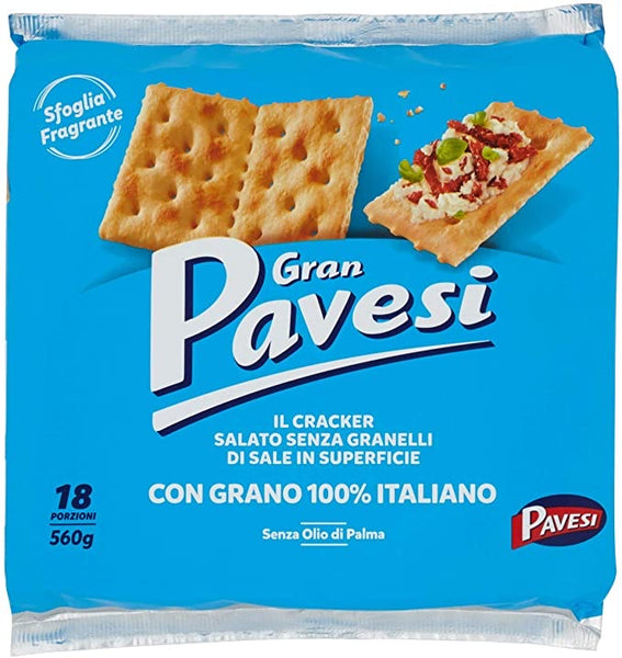Jumbo pack Gran Pavesi Cracker SALTED but without any grain of salt on the top