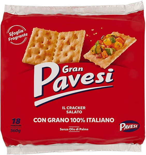 Gran Pavesi Salted crackers ( 18 portions; 560 g)
