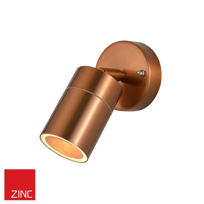 copper outdoor led wall light