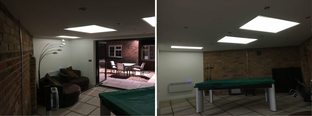 led lighting in games room