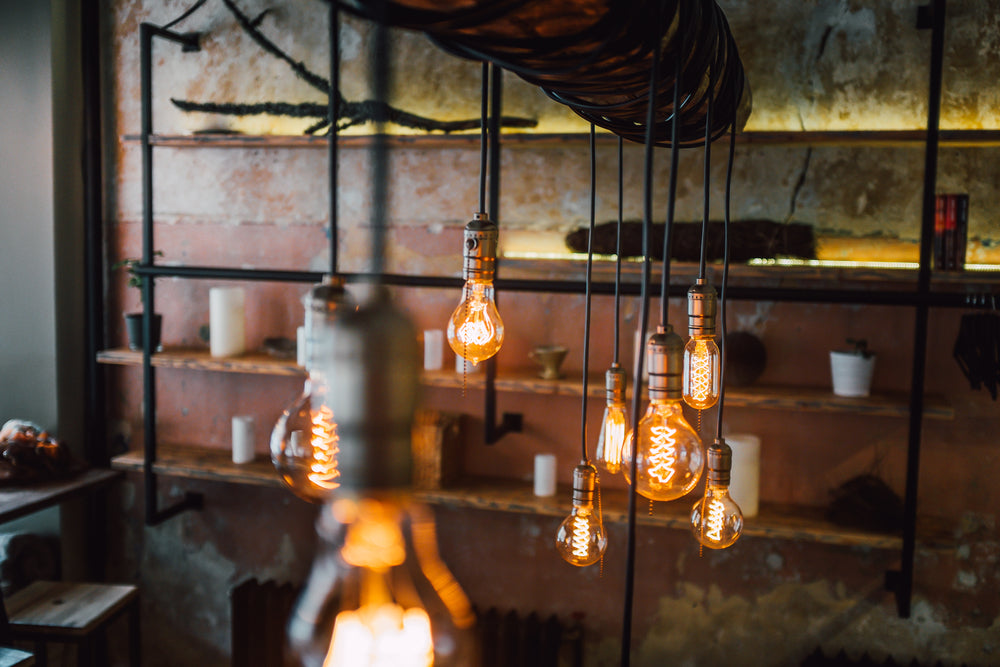 Industrial style LED filament bulbs