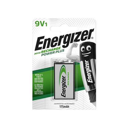 Energizer Power Plus 9V Battery - Rechargeable