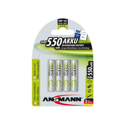 Ansmann MaxE AAA Batteries - Rechargeable - 4 Pack