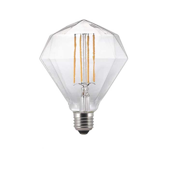Nordlux 2W E27 Diamant Filament LED - 140lm - 2200K - Clear - Non Dimmable