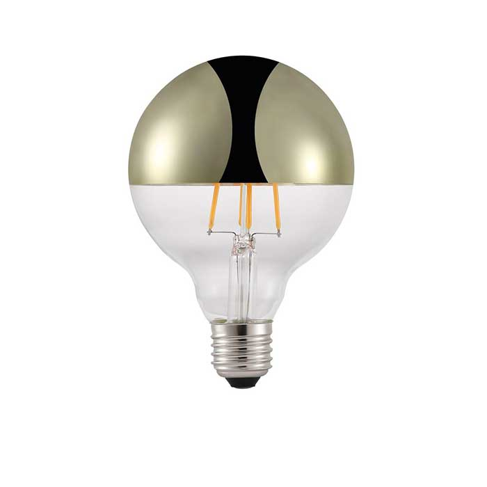 Nordlux 2W E27 Top Filament LED - 180lm - 2200K - Clear (Brass) - Non Dimmable