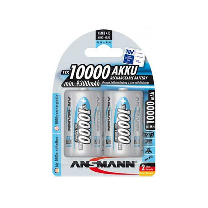 Ansmann D Batteries - Rechargeable - 2 Pack