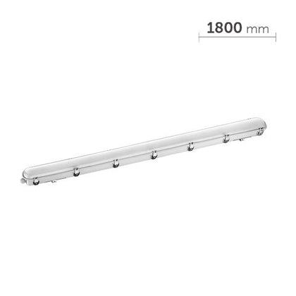80W LED Tri-Proof Light - 6ft (1800mm) Length - IP66 - 5000K - Emergency