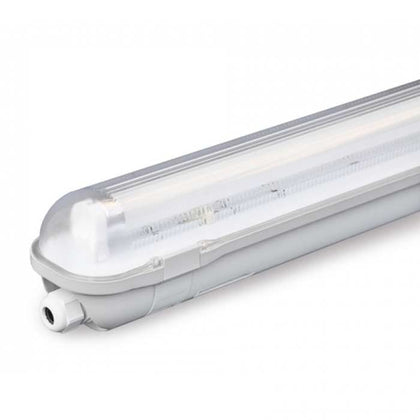 Tube Light Fitting - 6ft (1800mm) - PC Body & Diffuser - Single