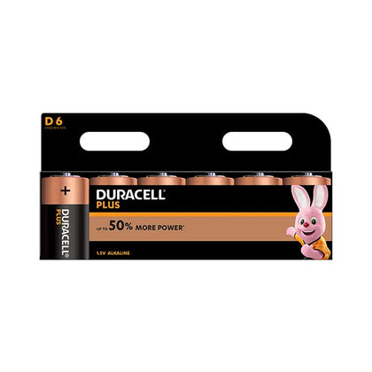 Duracell Plus Power D Batteries - 6 Pack