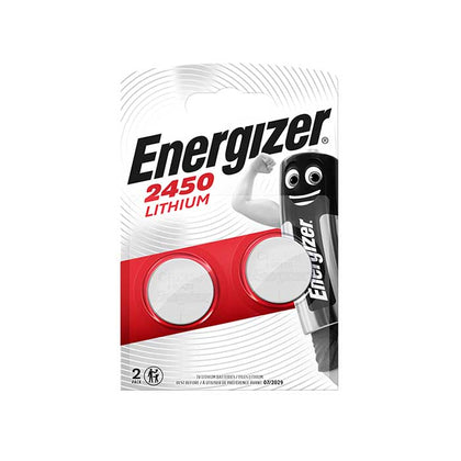 Energizer CR2450 Coin Cell Batteries - 2 Pack