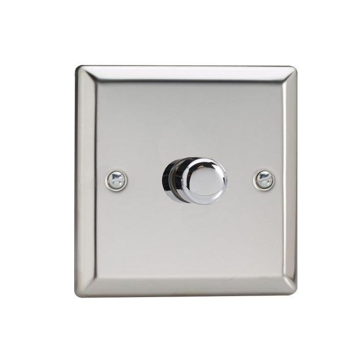 Varilight V-Pro LED Dimmer Switch - 1 Gang 2 Way - Chrome