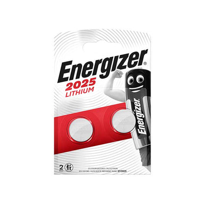 Energizer CR2025 Coin Cell Batteries - 2 Pack