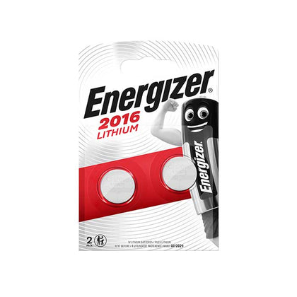 Energizer CR2016 Coin Cell Batteries - 2 Pack