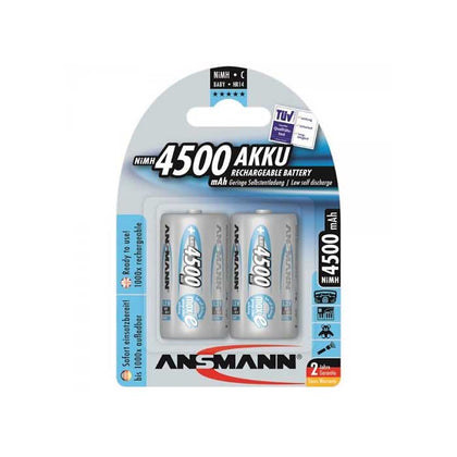 Ansmann MaxE C Batteries - Rechargeable - 2 Pack