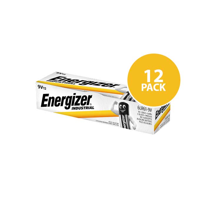 Energizer Industrial 9V PP3 / MN1604 Batteries